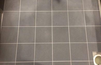 浴室床清掃のビフォーアフター